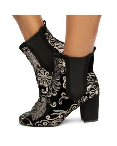 0b8763e6757 Fierce-151 Textile Bootie Black