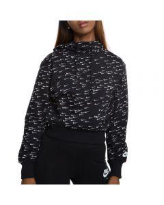4c6a373d83d2 SPORTSWEAR ALL-OVER PRINT HOODIE BLACK WHITE. Nike ...