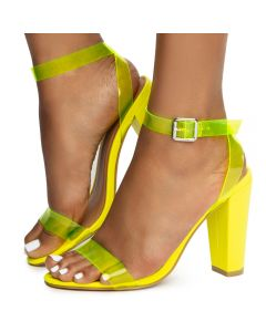 1e9da4d3d3 Mania-41 One Band Heels Neon Yellow