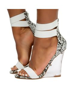 183a73c8981 Esso-6 Clear Wedge Heels Snake