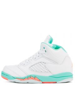online retailer 2044d 6d143 JORDAN 5 RETRO GP WHITE/CRIMSON PULSE-LIGHT AQUA-BLACK