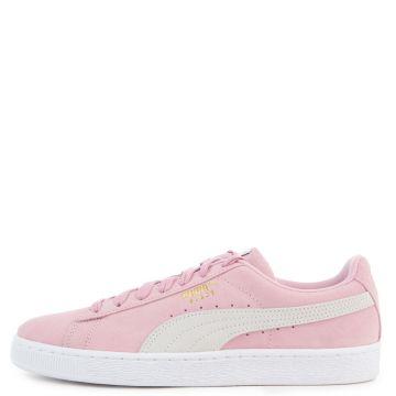 men's suede classic pale pink/puma white