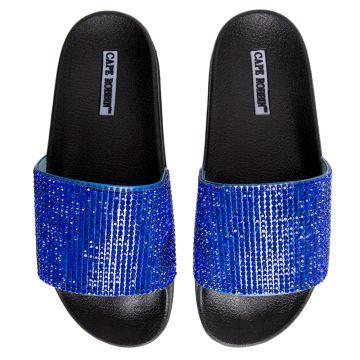 Cape Robbin Moira-67 Women's Royal Blue Slides Royal Blue