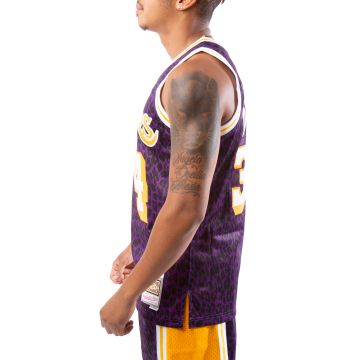 SHAQUILLE O'NEAL LOS ANGELES LAKERS WILD LIFE JERSEY