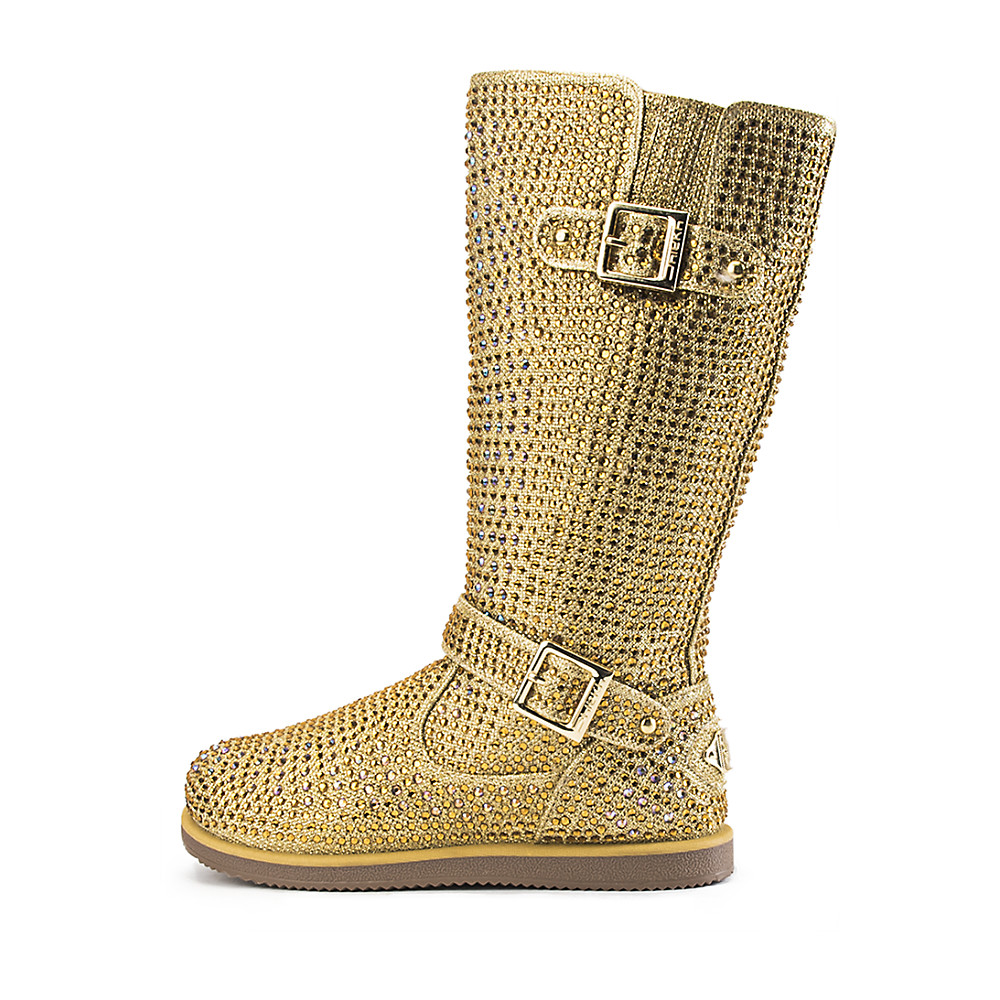 new Gold Urban Glitter Rhinestone Ankle Toddler Boots Kid Size 11C