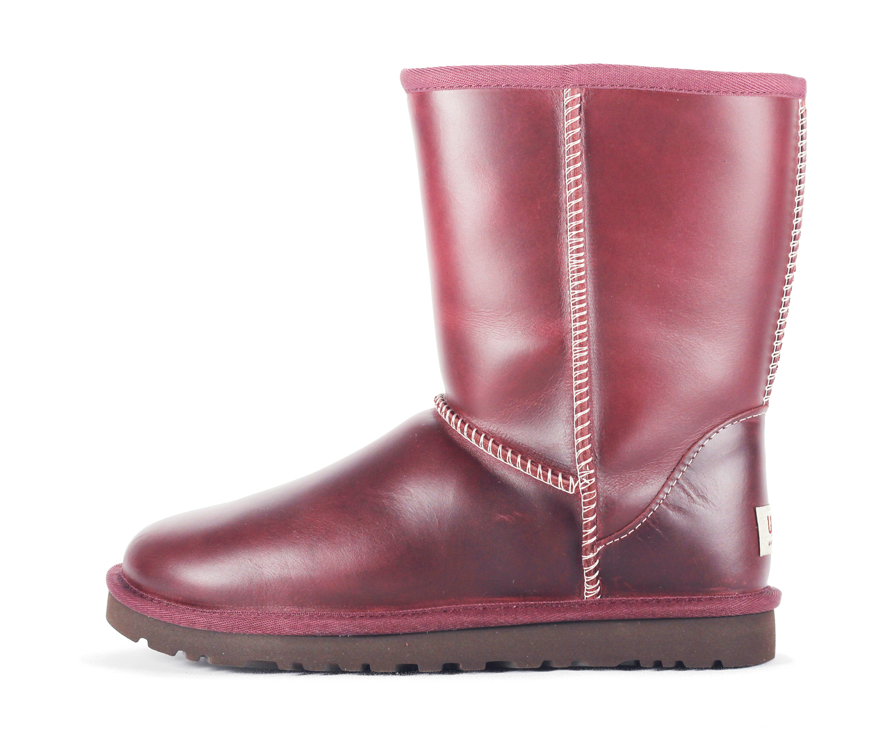 dcbe638a0b0e2 UGG Australia for Women: Classic Short Leather Oxblood Boot Red