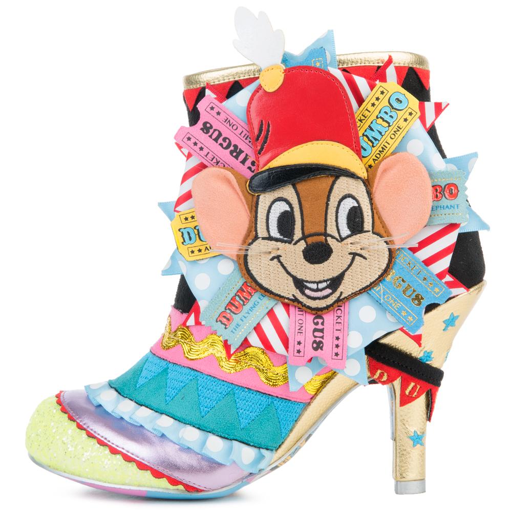 Disney's Dumbo x Irregular Choice I Give You Dumbo Ankle Boots BLACK/MULTI