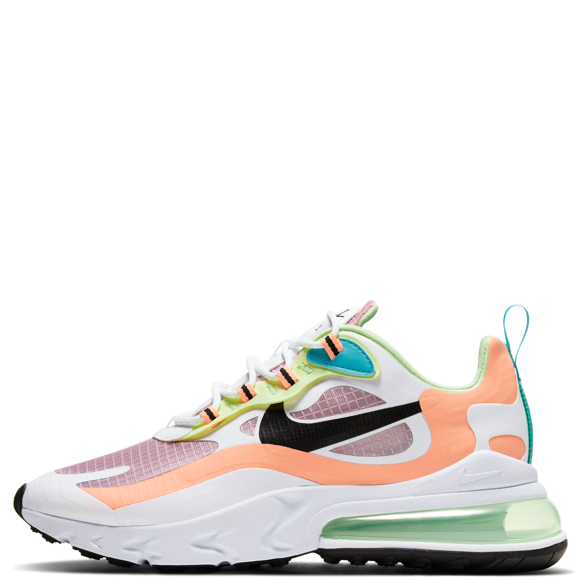 Women S Air Max 270 React Lt Arctic Pink Black Orange Pulse