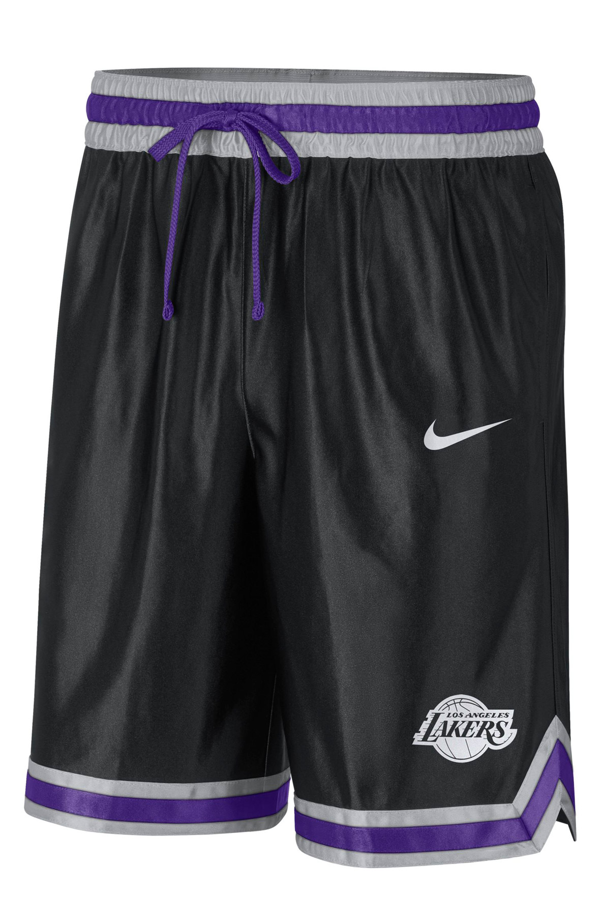 Los Angeles Lakers Courtside NBA Shorts Black/Grey Fog/Field Purple/Amarillo