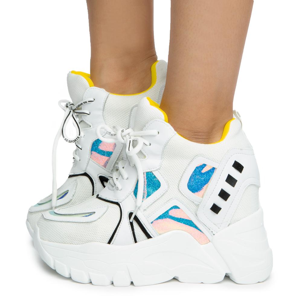 platform sneakers women white