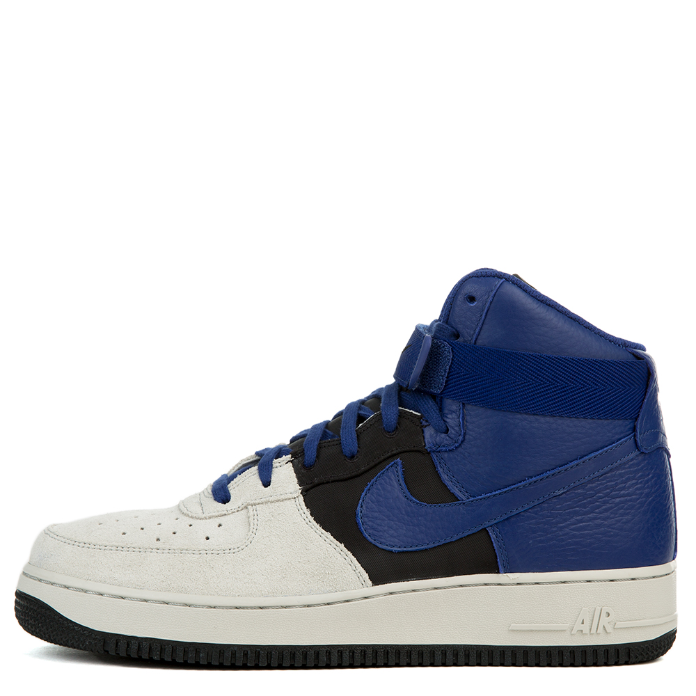 Air Force 1 High 07 Lv8 Pure Platinum Deep Royal Blue Black