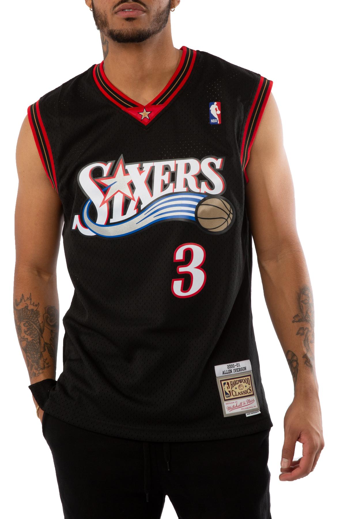 Allen Iverson Philadelphia 76ers 2000-01 Road Swingman Jersey
