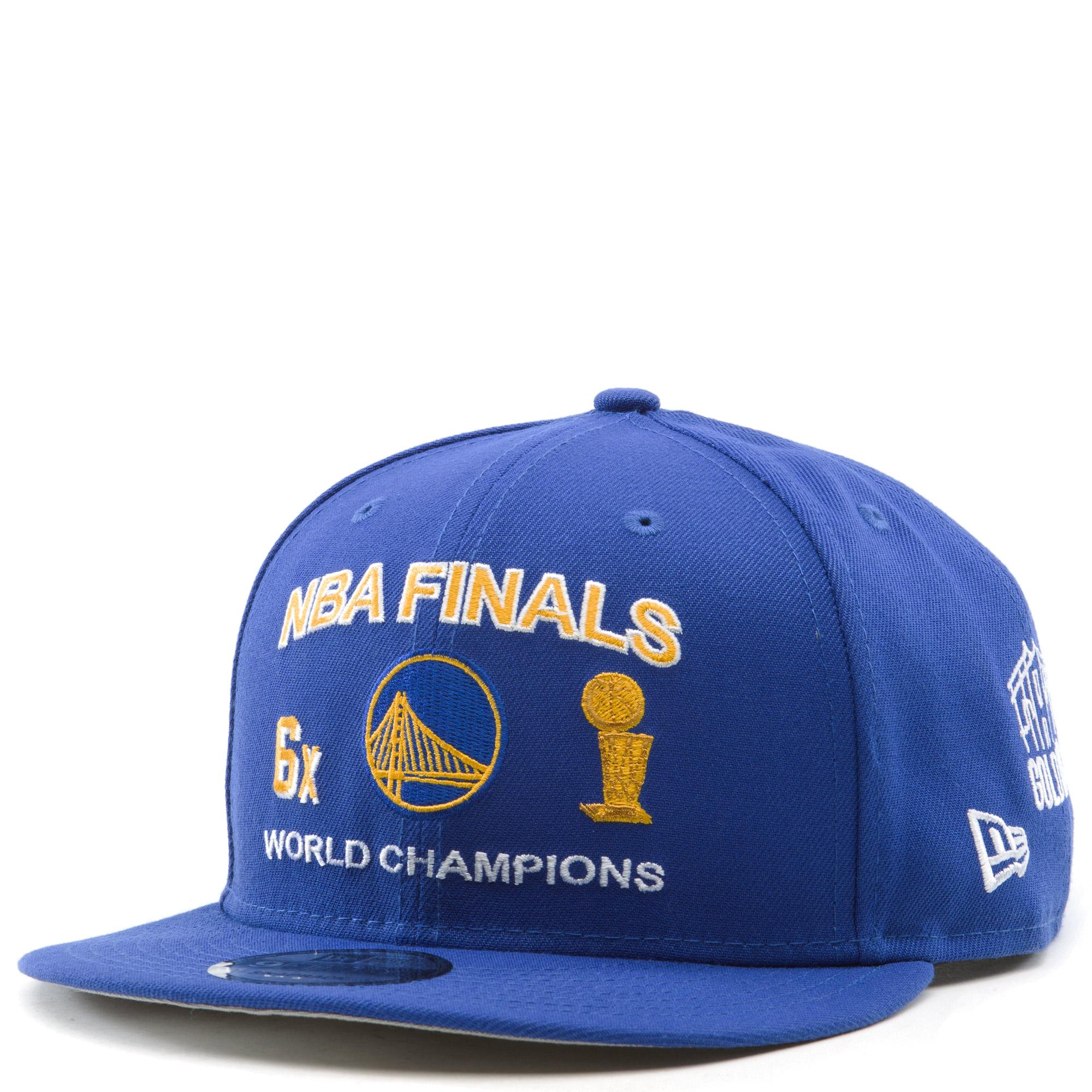 Golden State Warriors NBA Finals 9Fifty Snapback Hat Blue