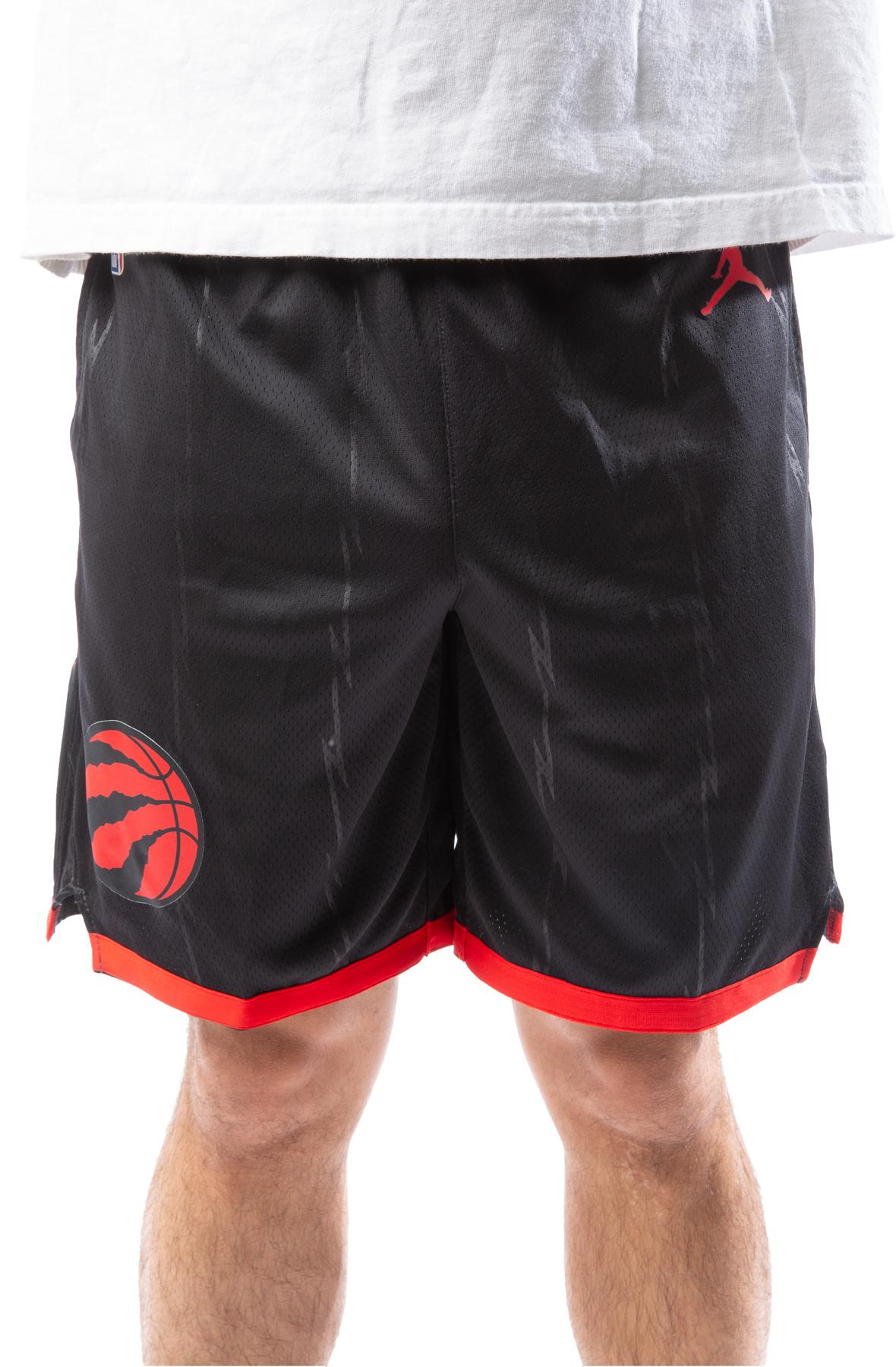 Raptors Statement Edition 2020 NBA Swingman Shorts Black/University Red