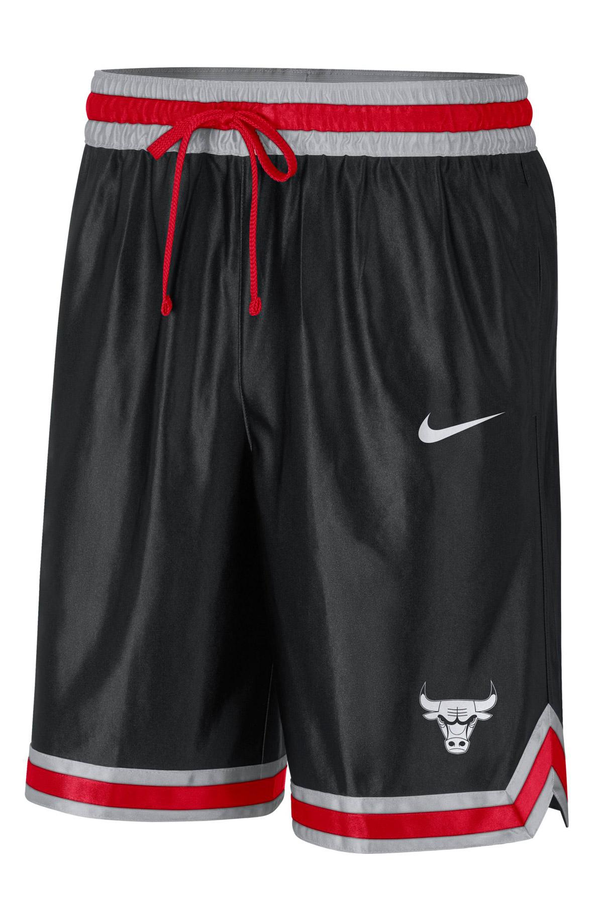 Chicago Bulls Courtside NBA Shorts Black/Grey Fog/University Red