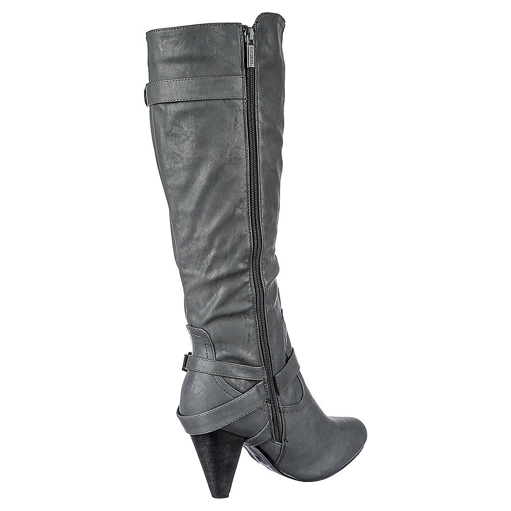 b557508cea8e Women s Low Heel Pocket Boot Merton-37A Grey